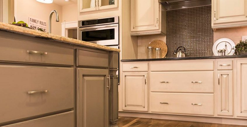 kitchen cabinet features warm painted cabinetry db homes 2500