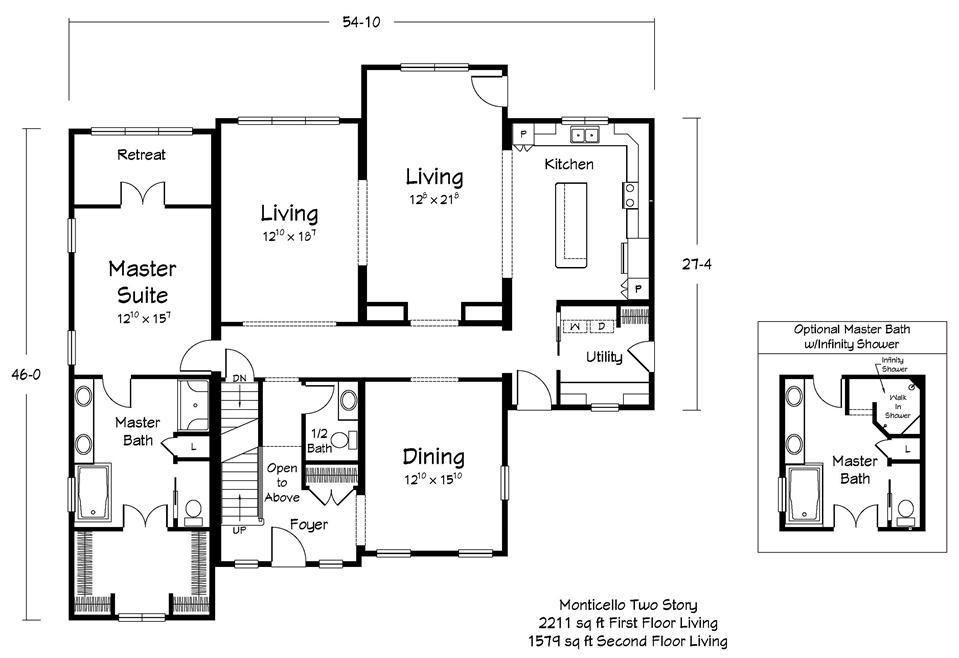Monticello Floor Plan - First Floor