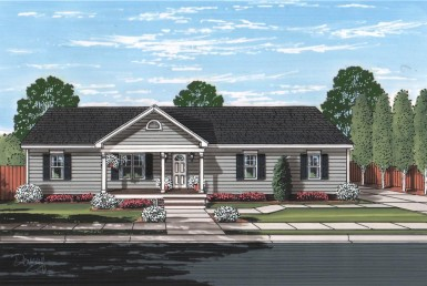 Silverton II - Ranch - Modular Home Floor Plan