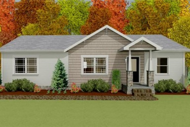 Harvest Gold Gala 2 - Ranch - Modular Home Floor Plan