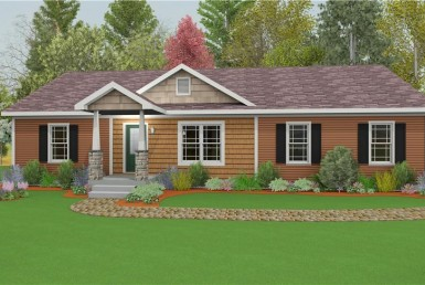 Harvest Gold Gala 5 - Ranch - Modular Home Floor Plan