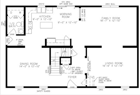 Montauk 6724 - Two Story - Modular Home Floor Plan