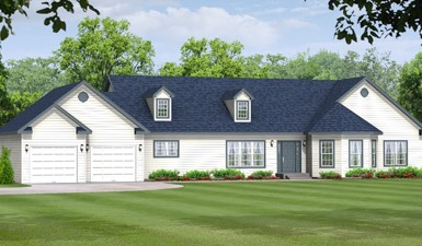 Oxford 3220 - Ranch - Modular Home Floor Plan
