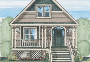 Belle Chasse Cottage - Cape Cod - Modular Home Floor Plan