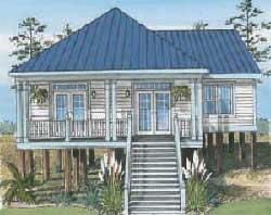 Dauphin Island Cottage B - Ranch - Modular Home Floor Plan