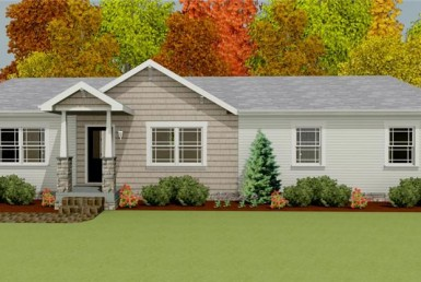 Harvest Gold Gala 4 - Ranch - Modular Home Floor Plan