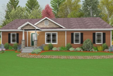 Harvest Gold Gala 6 - Ranch - Modular Home Floor Plan