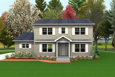 Harvest Gold Fiesta 2 - Two Story - Modular Home Floor Plan