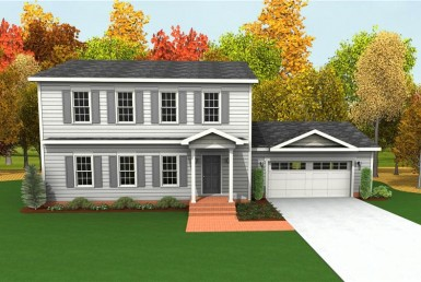 Harvest Gold Fiesta 1 - Two Story - Modular Home Floor Plan