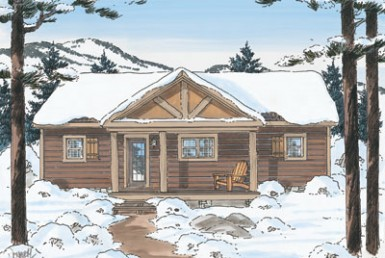 River Bend Cabin B - Ranch - Modular Home Floor Plan