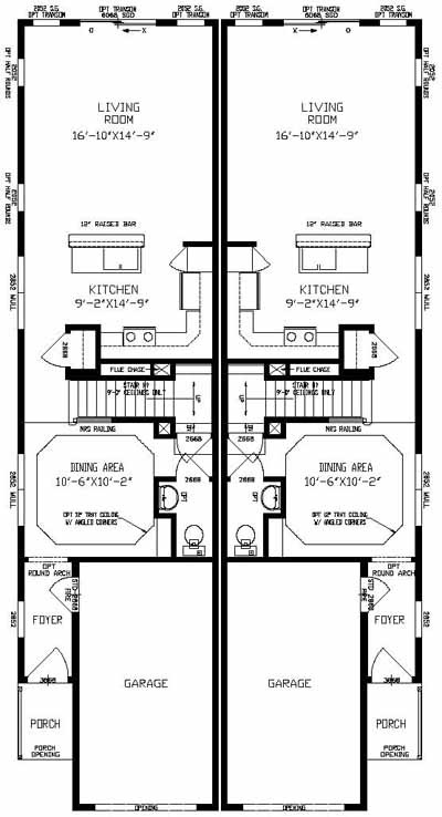 Sussex - Duplex & Townhouse - Modular Home Floor Plan