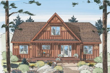 Grand Vista Chalet - Cape Cod - Modular Home Floor Plan