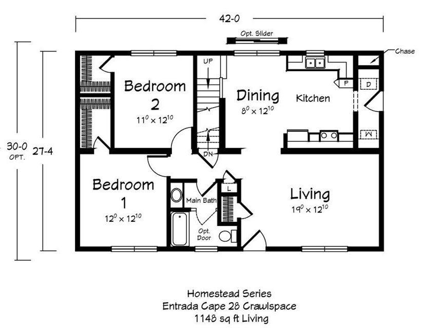 Entrada Cape - First Floor Plan