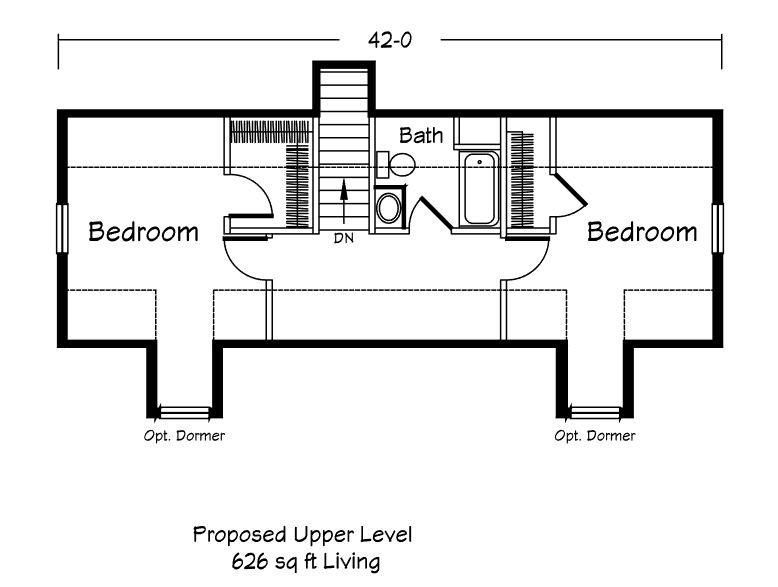 Entrada Cape - Second Floor Plan