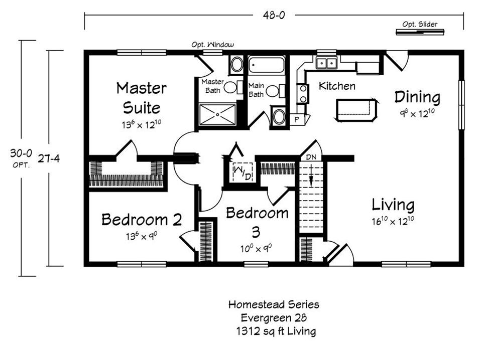 Evergreen - Homestead - Main Floor Plan